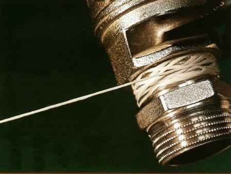Герметизация фитингов тефлоновой нитью