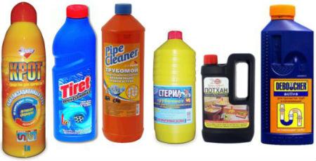 Средства для химической прочистки труб