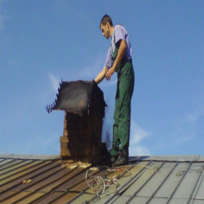 Механическая чистка дымохода