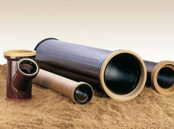 Готовые керамические трубы разных видов