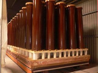 Заготовки труб в очереди на запекание в печи