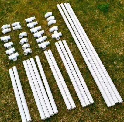 Обрезки ПВХ труб для создания стула