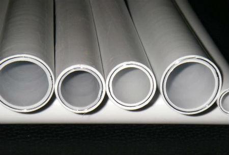 Металлопластиковые трубы высокого давления, в разрезе