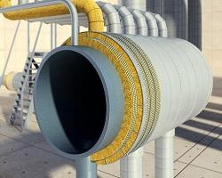 Трубопровод в изоляции Роквул