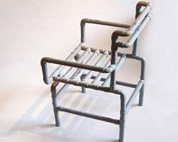 Готовый стул из ПВХ труб