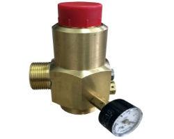 Предохранительный клапан сброса давления с манометром