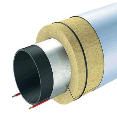 Утепление трубы с помощью фольгированного цилиндра и греющего кабеля