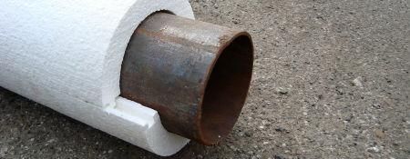 Труба защищенная пенопластовой оболочкой