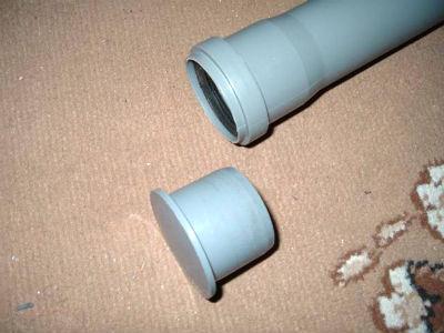 Постоянная заглушка из поливинилхлорида