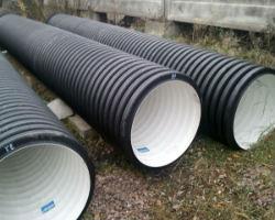Гофрированные пластиковые трубы большого диаметра
