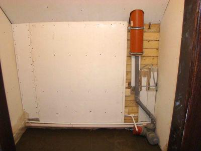 Вывод вентиляционного стояка из ПВХ трубы