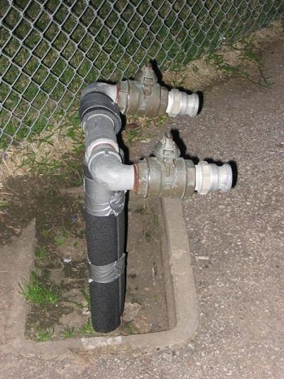 Утепление пенополистиролом водопроводной трубы