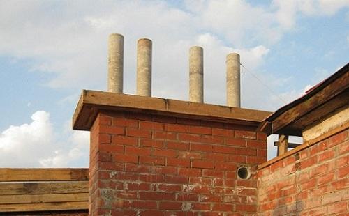 Дымоход для дома из асбестоцементных труб