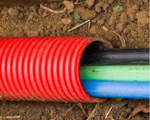 В одном футляре прокладывается несколько жил кабелей