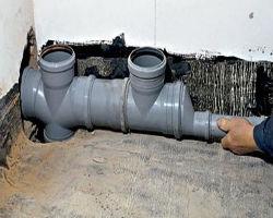 Соединение канализационных ПВХ труб