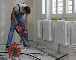 Процесс установки радиаторов