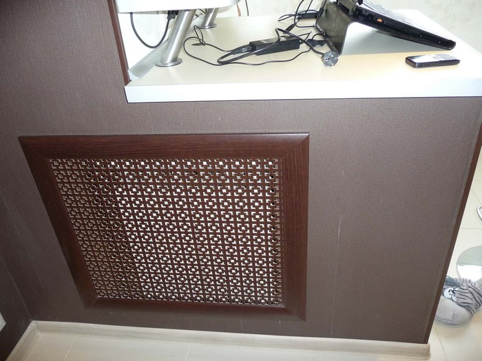 Декоративный экран для радиатора