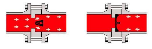Схема двухстворчатого клапана