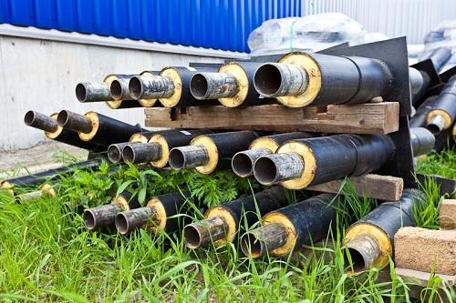 Заготовки элементов труб с неподвижными опорами