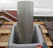 Устройство дымохода на крыше