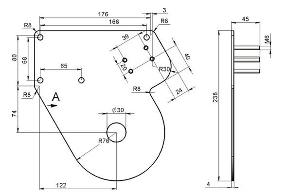 Схема крепежной планки