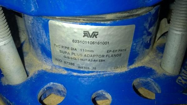 Характеристики адаптера, заявленные производителем для труб диаметром 110 мм