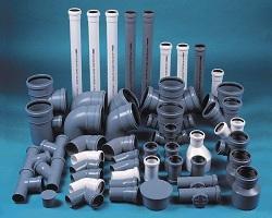 Фасонные части для труб канализации (отводы, заглушки, муфты, тройники)