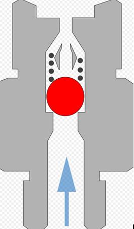Схема шарового клапана