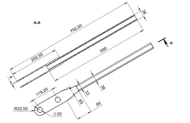 Схема ручки трубогиба