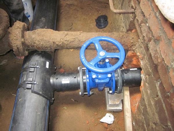 Наружный водопровод из ПВХ труб
