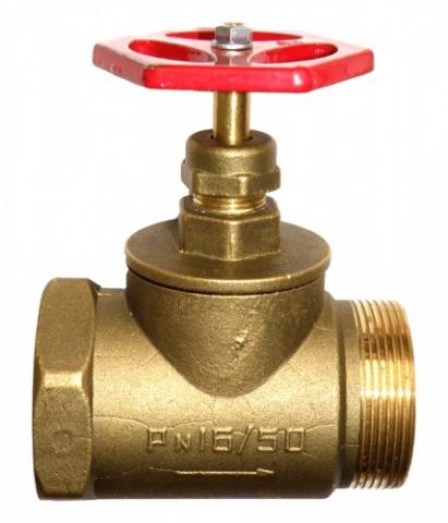 Муфтовый вентиль с комбинированной резьбой ВР-НР