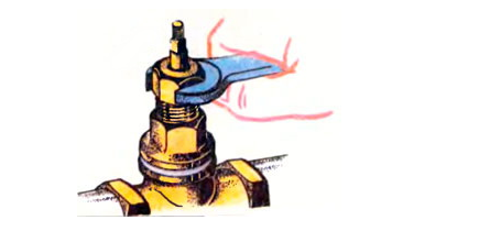 Установка головки на корпус вентиля