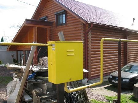 Шкаф для установки газового оборудования на улице