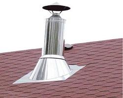 Обязательна установка зонта для защиты дымовой трубы