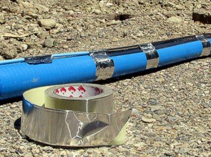 Наружный монтаж электрического греющего кабеля на трубу