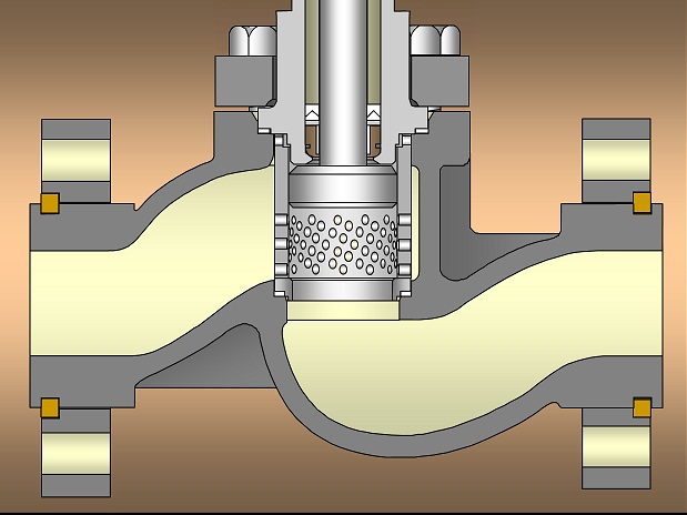 Схема конструкции клеточного клапана