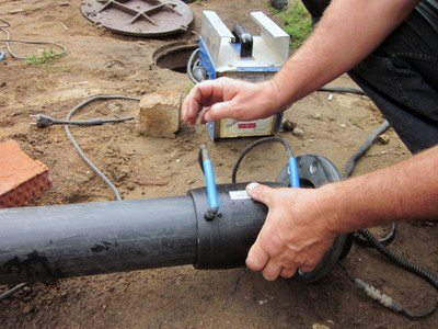 Монтаж электромуфты на трубопровод