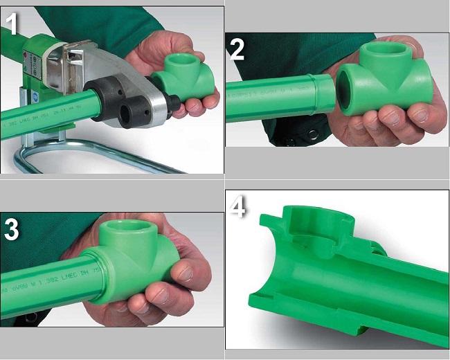 Технология спайки пластиковых труб