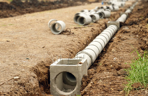 Монтаж трубопровода из асбестоцементных труб
