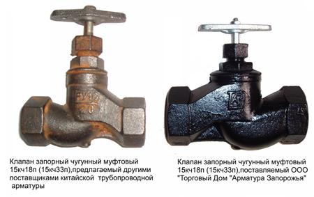 Запорный клапан муфтового типа
