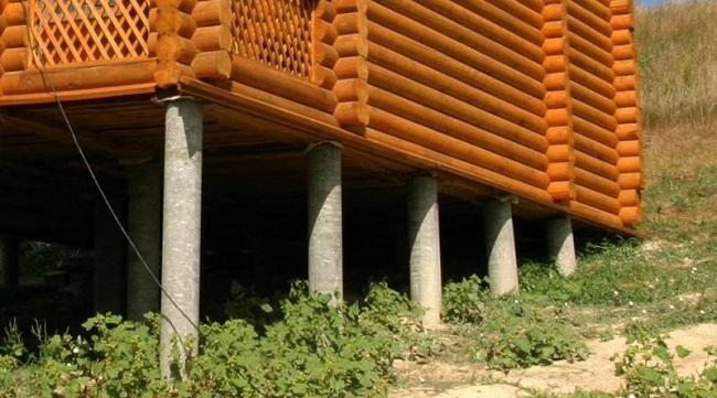 Столбчатый фундамент из асбестовых труб