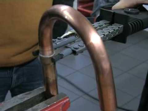 Технология пайки медных труб твердым способом с помощью высокотемпературного паяльника