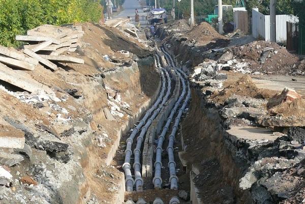 Прокладка канализационных магистралей из керамических труб