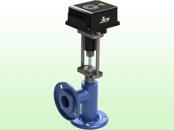 Угловой клапан с электроприводом фланцевого типа