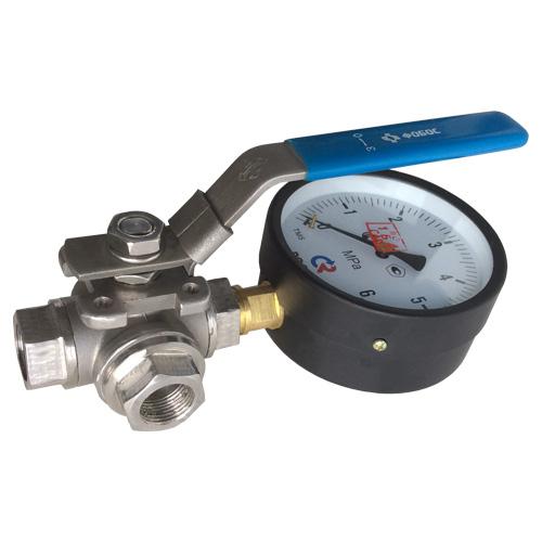 Трехходовой кран предназначен для установки в систему манометров
