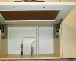 Ящик для декорирования газовой трубы
