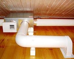 Вентиляционная система из пластиковых труб