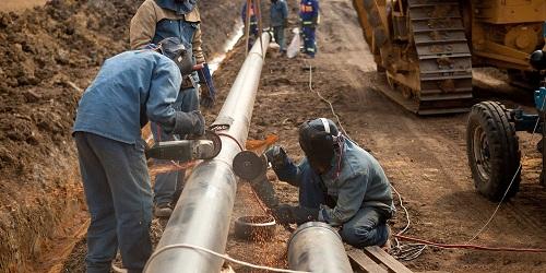 Прокладка трубопровода из стальных ВГП труб