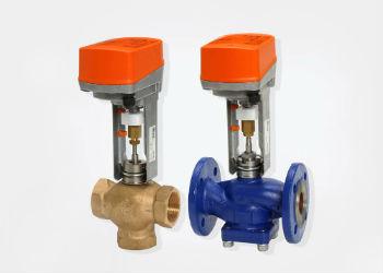 Клапаны для промышленного и гражданского применения с электроприводами