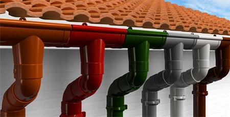 Многообразие цветовых решений водосточных элементов